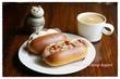 おうちモーニング その1609 ~近江屋洋菓子店のドッグパンでサンドウィッチ~