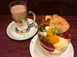大丸東京『イノダコーヒ』の季節限定『洋梨のクープ』