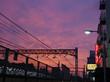 鶯谷駅の夕焼け