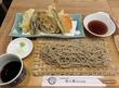 蕎麦cafe 粉々奈 で天ぷら盛り合わせとお蕎麦♪