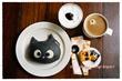 おうちモーニング その1677 ~ティンカーベルの黒猫パン~