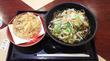 新宿三丁目「いわもとQ」野菜たっぷりそば+かき揚げ