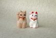 12月3日の猫毛フェルト京都定期教室は、招き猫毛人形♪