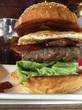 西宮の山の中のアメリカンダイナーでハンバーガー!