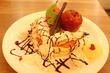 【下北沢MOGMOG/下北沢】真っ赤な林檎のクリスマスパンケーキ♪