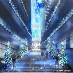 表参道ヒルズ クリスマスイルミネーション「Brilliant Aqua Tree」