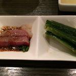 コールドステーキとたたき胡瓜  @一頭買焼肉・本場韓国料理 醍醐  Luz大森店