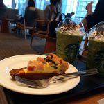 ほうれん草とベーコンのキッシュと抹茶ブラウニーフラペチーノ@スターバックスコーヒー 玉川高島屋S.C店
