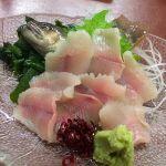 黒百合     岩魚の洗い😍