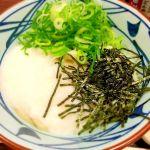 丸亀製麺 イオンモールむさし村山ミュー店。とろろ醤油うどん。350円。おろし醤油うどん復活しないかなぁ。