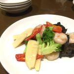 タケノコ ブロッコリー 海老の炒め物