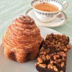 ビゴの店 ドゥース・フランス プランタン銀座店 朝茶のお茶請けでもちもちスイートなクロワッサンフィユテ&くるみたっぷりのチョコケーキ ブラウニーをペロリ♪