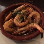 エーゲ海の女神のアヒージョ@海賊の台所。クリスマススペシャルメニュー。エーゲ海の特定海域で獲れた天然エビだって!#飯テロ