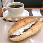 カスカード ゼスト御池店:塩バター あんホイップとコーヒー