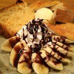ノイズシフォンケーキのバナナチョコプレート