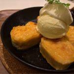 メニューにパンケーキがもう無いみたい…だからフレンチトースト。(>_<)  :フラッグスカフェ 上野松坂屋店