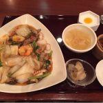 南国酒家 港北TOKYU S.C.店 海鮮焼きそばの定食