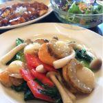 御馥 大阪マルビル店平日限定のビジネスランチ950円🎵メインは二種選べて、週替わりの麻婆豆腐と選んだのはホタテのあっさり炒めを🎵