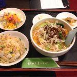 元祖 紙やき ホルモサ 新青山ビル☆辛味麺と半チャーハン