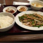 台湾小皿酒家 五福 青椒肉絲定食 ンマンマ ^o^