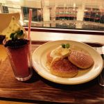 CAFFE OTTO.Cycloパンケーキとイチゴのカキ氷(^^;;