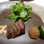 醍醐味 丸ビル   特撰ふらの和牛一口ステーキ   牛肉の量が如何にも会席料理です