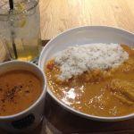 Soup Stock Tokyo Dila三鷹店  カレーとスープのセット。オマールえびのスープがたまりまへん。