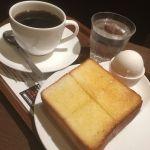 上島珈琲店 COREDO日本橋店 モーニング:厚切りトーストとゆで玉子