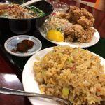 台湾料理 嘉宴楼唐揚げ定食 食べきれない