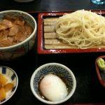 更科 千 イオン札幌桑園店でランチ。豚丼セット 750円。