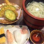 和食と甘味処 漱石でごちそうさま(*´ڡ`●)釜揚げ天ぷら御膳。天ぷらが揚げたてアツアツ☆