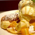 焼マシュマロパンケーキ。とろーりマシュマロが幸せ ヾ(≧∇≦*)/at ノース・サイド・カフェ