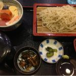 更科 千 イオン札幌桑園店    海鮮丼とお蕎麦のセット。780円にゃりー。美味しい、モグモグv(^_^v)♪
