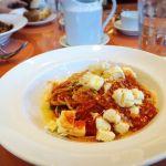 バジリコとモッツァレラチーズのトマトソーススパゲッティ@trattoria Gran Bocca