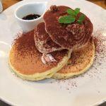 T.C cafe 岡山店の期間限定ティラミスパンケーキを食べました^^