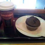 シアトルズベストコーヒー 天神ビブレ店にきましたぁ!今日のランチはキャラメルラテとマフィン(*´σω`)
