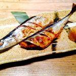 結庵。秋刀魚。ふっくらしてて美味しい秋刀魚。焼き加減も👍。