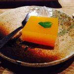結庵。杏子ゼリー寄せ。木の子の天ぷらと鮭ちらし寿司、久々撮り忘れて食べちゃった(≧∇≦)