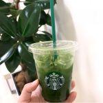 東京都、神奈川県、千葉県、埼⽟県の店舗限定🍎🍵シェイクンアップルグリーンティー。 飲んだ瞬間りんごジュースだけど、後味グリーンティーで爽やか◡̈ 見た目は青汁みたいだけどね😂