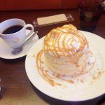 珈琲 茶香♡ね、念願の〜!茶香さんの星(あかり)⭐︎ふわふわ美味しかった〜!キャラメルとホイップ幸せ♡