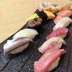 ランチのトロ入り握り  コスパいいです、得した気分  築地寿司清 伊勢丹会館店
