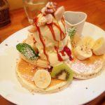 パンケーキママカフェ VoiVoi♡友達が食べてた塩キャラメルバナナ!!これも美味しかった〜!塩がいい感じだった♥️️