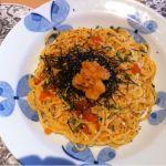 生麺工房 鎌倉パスタ アクアウォーク大垣店生パスタ始めて食べました!美味しぃー!ウニとイクラたっぷりで最高☻
