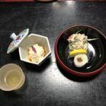 泉仙 大慈院店   湯葉と白酢和え   好みで柚子酢を加えます