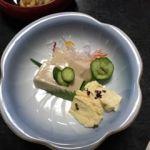 泉仙 大慈院店   胡麻豆腐    湯葉が添えてあります