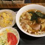 ワンタンスープと炒飯  @赤尾飯店