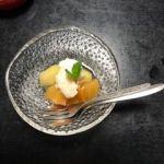 泉仙 大慈院店   デザート  柿とリンゴのコンポート  白和え添え