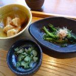 和食 えん 東京ドームシティミーツポート店   小鉢と香の物    筍と菜の花が旬ですね〜