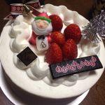 うちの今年のケーキは…ロートンヌ 立川伊勢丹店で購入。ふわふわで美味しかった!