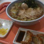 今日はどうとんぼり神座 アリオ北砂店へ。煮卵ラーメンあげ餃子おにぎりセットをたべた(^ω^)うまい